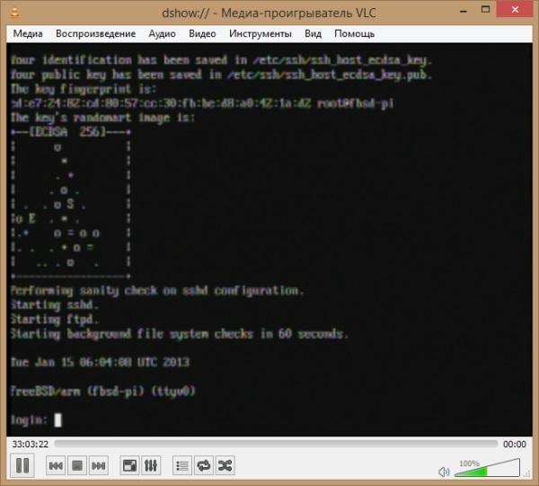 Загруженная FreeBSD